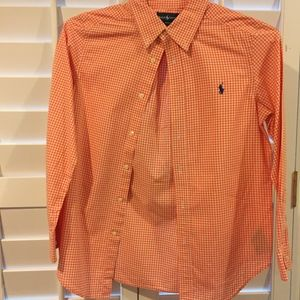 Boys Ralph Lauren Orange M(10-12) Dress Shirt